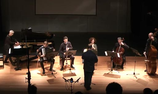 The Ensemble JungeMusik plays my song Aprèslude at the Intersonanzen 2016